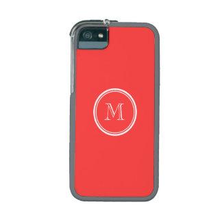 Avslutar den röda kicken för personligkorall iPhone 5/5C mobile skal