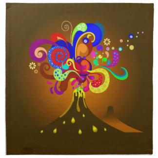 Avsöndra för vulkan av färg tygservett