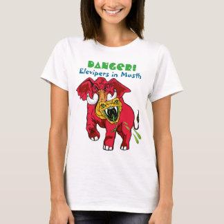 Avvikelse av den röda elefanten/den gula t shirt