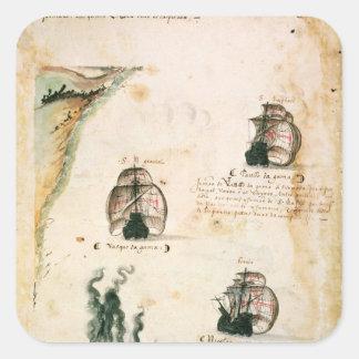 Avvikelse av Vasco da Gama Fyrkantigt Klistermärke