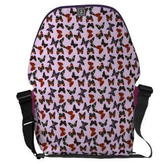 Away messenger bag för fjärilsfluga