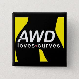 AWD kärlekkurvorgult knäppas Standard Kanpp Fyrkantig 5.1 Cm