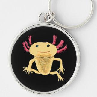 Axolotl Rund Silverfärgad Nyckelring