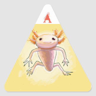 aXolotl Triangelformat Klistermärke