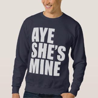 Aye är hon bryter roligt lång ärmad tröja
