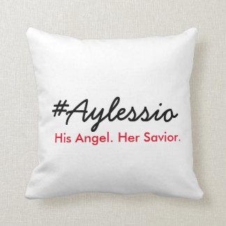 #Aylessio hans ängel, henne frälsare Prydnadskuddar