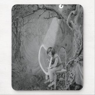 Ayra som leker hans harpa som göras av månsken musmatta