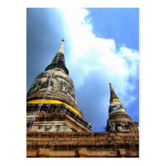 Ayutthaya. Wat Yai Chai Mongkol. Vykort