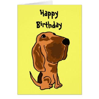 AZ-, roligt spårhundfödelsedagkort Hälsningskort