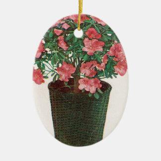 Azalea lagd in växtpåsk julgransprydnad keramik