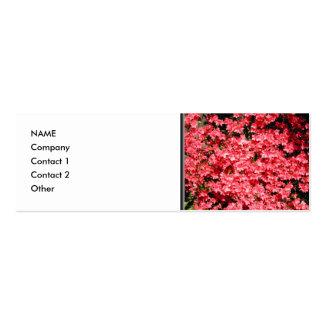 Azaleas. Nätt rosa Flowers. Visitkort Mallar