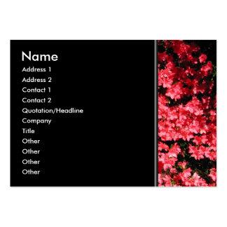 Azaleas. Nätt rosa Flowers. Visitkort