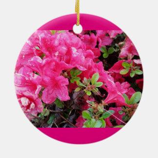 Azaleasrosor regnar tappar julgransprydnad keramik