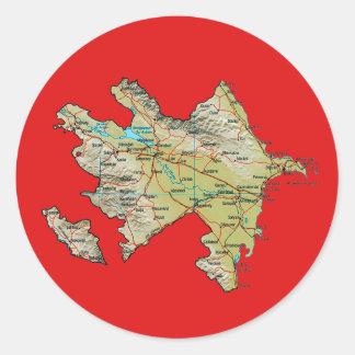 Azerbajdzjan kartaklistermärke runt klistermärke