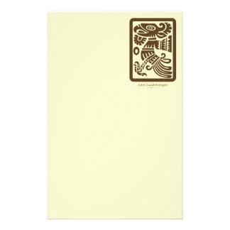 Aztec Cuauhtli - brun) brevpapper för örn (