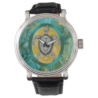Aztec Emblemhavssköldpadda Armbandsur