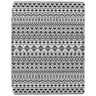 Aztec extraktmönstersvart på vit iPad skydd