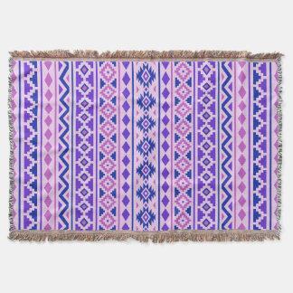 Aztec för Pinksblått för extrakt II vertikala Ptn Mysfilt