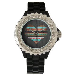 Aztec hjärta armbandsur