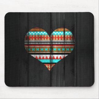 Aztec hjärta mus matta