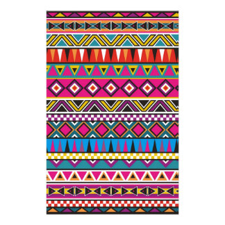 Aztec inspirerat mönster brevpapper