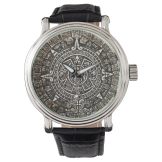 Aztec kalender armbandsur