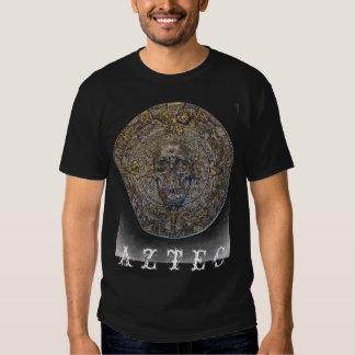 Aztec kalender med den onda skalleT-tröja T Shirt