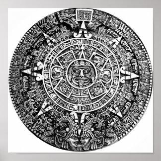 Aztec kalender poster