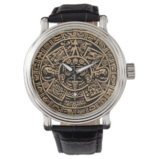 Aztec kalenderklocka armbandsur