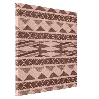 Aztec konst för vägg för mönsterSouthwestkanfas Canvastryck