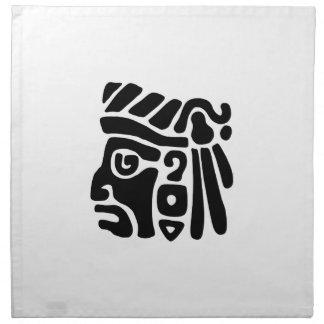 Aztec krigare servett med tryck