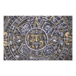 aztec/mayan kalender brevpapper