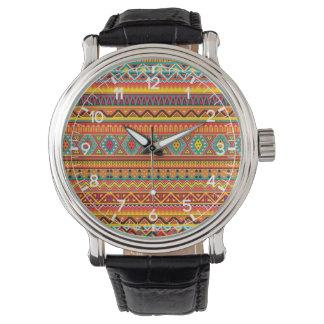 Aztec mönster armbandsur