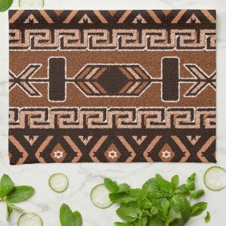Aztec mönster för brun Southwest Kökshandduk