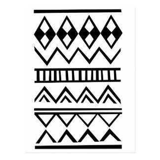 Aztec mönster vykort