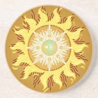 Aztec solfantasikonst underlägg sandsten