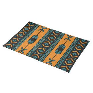 Aztec stam- design för orange turkosSouthwest Bordstablett