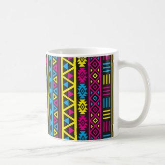 Aztec stil Ptn (v) - CMY & svart Kaffemugg
