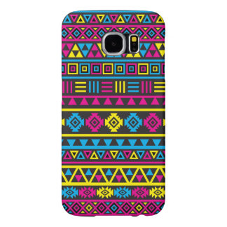 Aztec stilmönster - CMY & svart Galaxy S5 Fodral