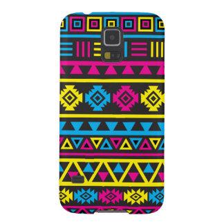 Aztec stort) mönster för stil (- CMY & svart Galaxy S5 Fodral