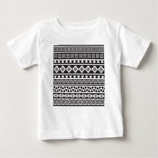 Aztec stort) mönster för stil (- monokrom t shirt