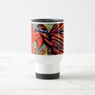 Aztec travel mug för fågeldansareindian rostfritt stål resemugg