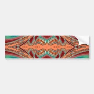 Aztec tyg. Stam- mönster Bildekal