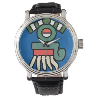 Aztecen regnar undertecknar klockan (för armbandsur