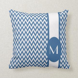 Azure elegant sparredesign med monogramen kudde