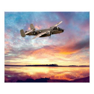 B-25 Mitchell Fototryck