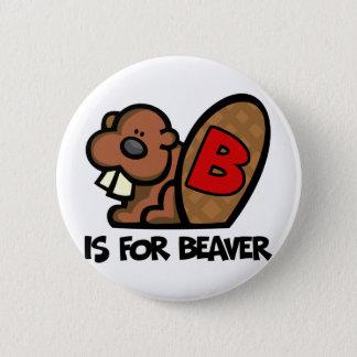 B är för bäver standard knapp rund 5.7 cm