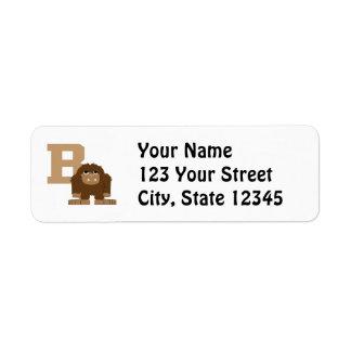 B är för Bigfoot Returadress Etikett
