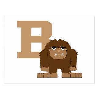 B är för Bigfoot Vykort