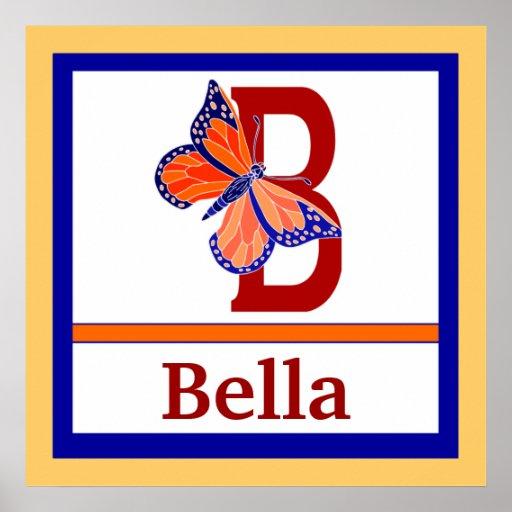B är för fjäril, och lurar känd väggkonst för flic affischer